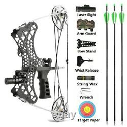 MINI Compound Bow Kit 30lbs Right Left Hand Laser Sight Archery Fishing Hunting