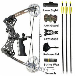 Mini Compound Bow 35lbs Sight Arrow Archery Shooting Fishing Hunting Right Left