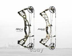 NEW Hoyt AXIUS ALPHA LH 60-70# 28-30 Black BLACKOUT Left Handed Hunting Bow #3
