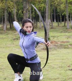 NEW IRQ Archery Traditional Longbow 52,35lb Recurve Bow Hunting Target Practice