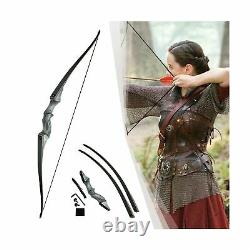 Neutral Black Hunter Takedown Longbow, 60 Wooden Archery Bow Hunting Bow R