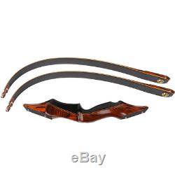 New Archery Takedown Recurve Bow Hunting Wooden Right Handed 58'' Long Bow 60LBS