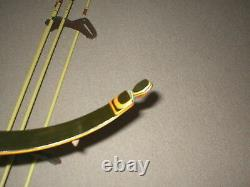 Nice Vintage Black Hawk Hornet Recurve Bow 40# LH + Quiver and Hunting Arrows