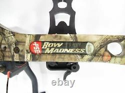 PSE Bow Madness RTS 70lb RH Compound Hunting Bow Black Gold Sights