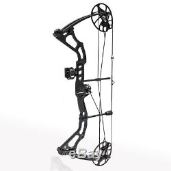 Powerful Mirage Adult Hunting Compound Bow Set Kit 15-70 Lbs Black Right Handed