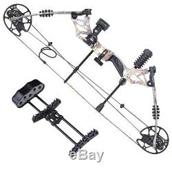 Pro Compound Bow 20-70lbs Adjust Sight Target Archery Right Hand Black Hunting