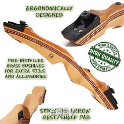 Takedown Recurve Bow 62 Archery Hunting bow, 15-50LB. Draw weight, Right & Left