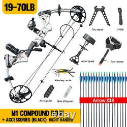 Topoint M1 Compound Bow 19-30 19-70lb Right Hand Hunting Archery Target USA