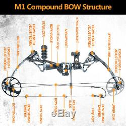 US Hunting Archery Stabilize Compound Bow and Arrows Set19-70Lbs, 320fps IBO