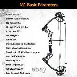 US M1 Compound Bow Arrows Set 19-30/19-70Lbs Right Hand Hunting Shoot 320FPS