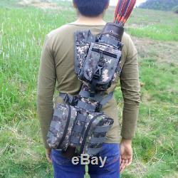 Whole Leather Arrow Quiver with Molle System Bags Sport Tactical for Bow Hunting