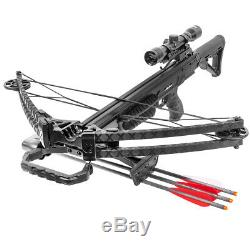 XtremepowerUS Reverse Crossbow archer 165 Lbs 380 fps Hunting w scope camouflage