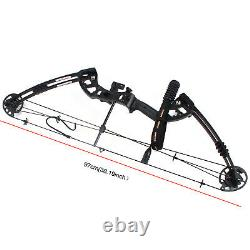 Youth Compound Bow Kit Target with 12 pcs Arrows Right Hand Archery Hunting